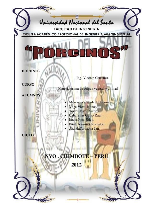 Universidad Nacional del Santa                FACULTAD DE INGENIERÍAESCUELA ACADÉMICO PROFESIONAL DE INGENIERÍA AGROINDUST...