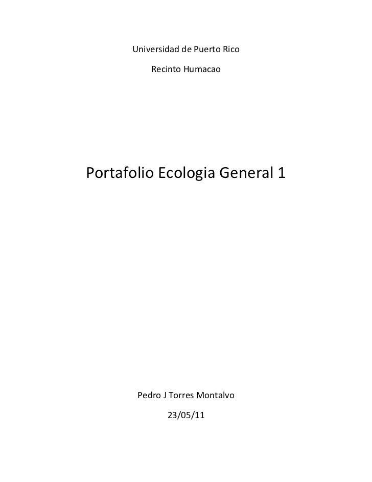 Porfolio ecologia