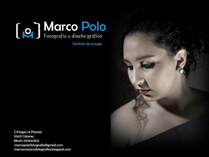Marcos Moreno PrietoA continuación les presento mi porfolio de trabajo donde podrán observar las habilidades adquiridas a ...