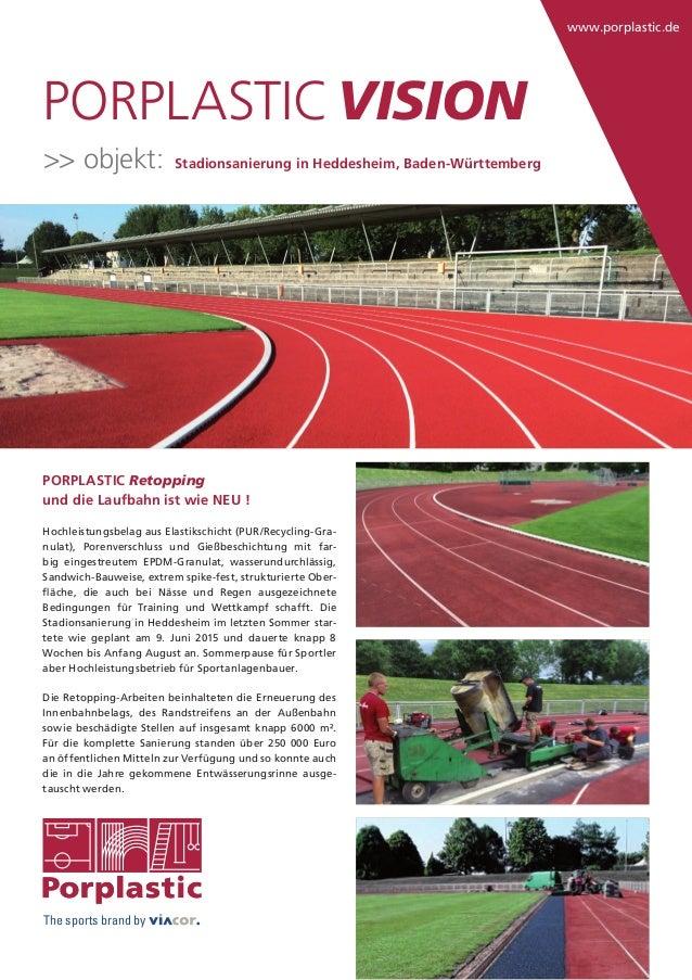 www.porplastic.de The sports brand by PORPLASTIC Retopping und die Laufbahn ist wie NEU ! Hochleistungsbelag aus Elastiksc...