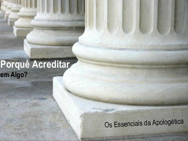 Hope  Porquê Acreditar  Hurting For The  em Algo?  A Study in 1 Peter Essenciais da Apologética Os www.confidentchristians...