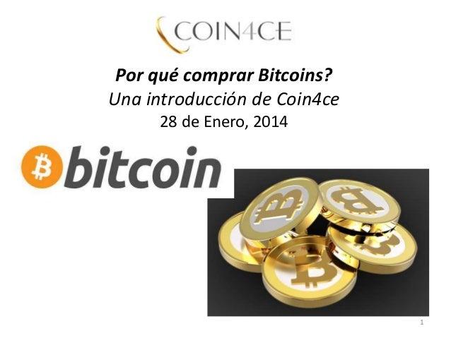 Por qué comprar bitcoins?