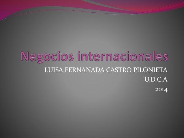 LUISA FERNANADA CASTRO PILONIETA U.D.C.A 2014
