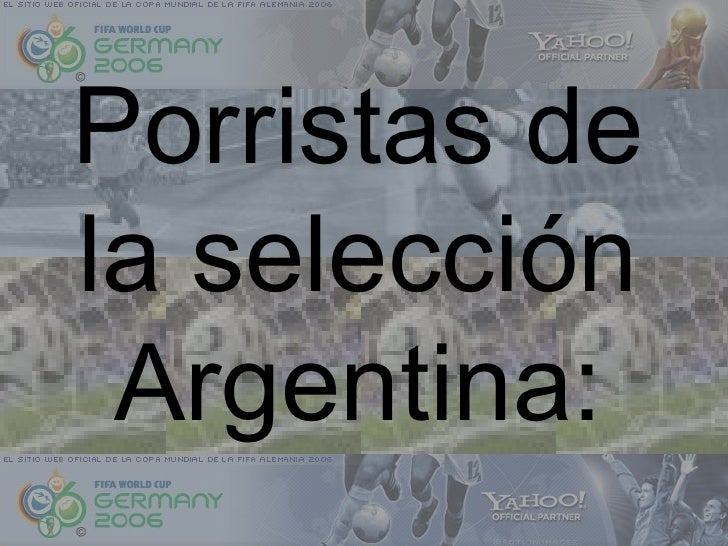Porristas de la selección Argentina: