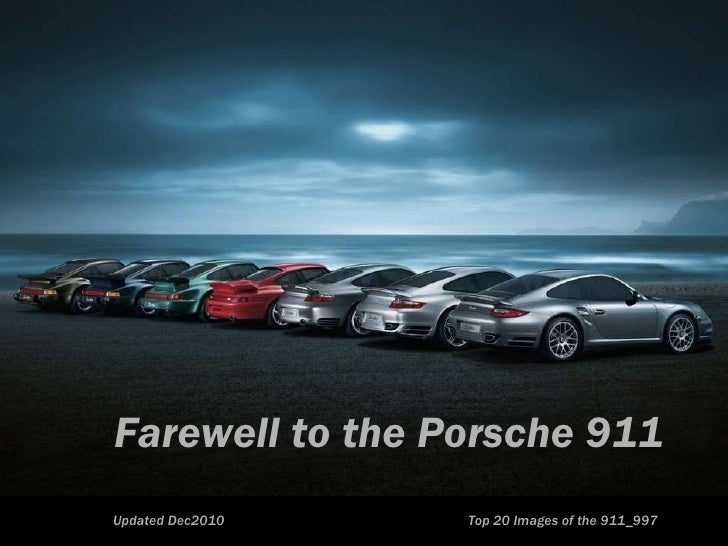 Top 20 Farewell to the Iconic Porsche 911 997 [4mb]