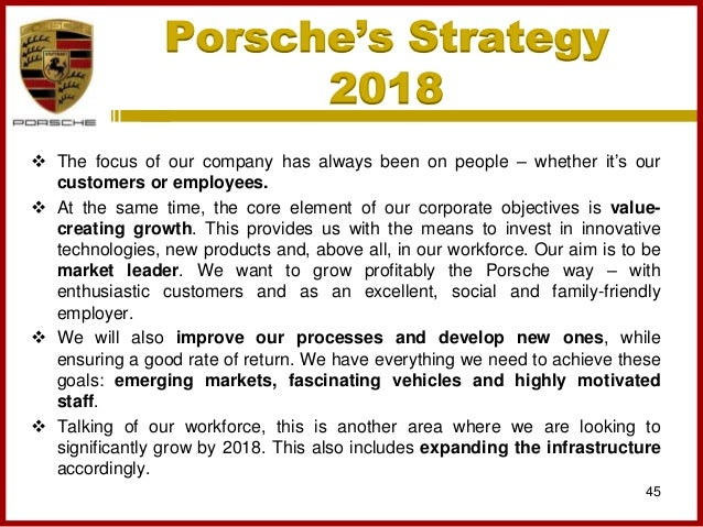 porsche marketing analysis Case analysis: volkswagen group bryan pratt introduction the modern volkswagen group, known in german as volkswagen aktiengesellschaft, has grown from a single public automobile company in the 1930s to incorporate the audi.