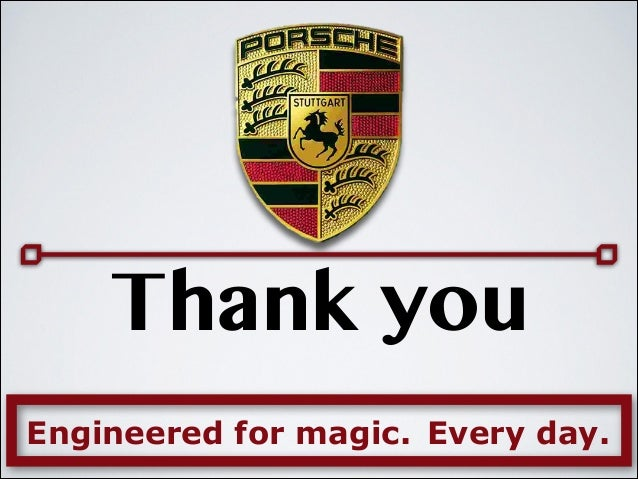 "porsche marketing case study What's driving porsche  porsche was the top ranking brand in jd power and associates ""initial quality study"" (iqs)  from porsche's sales, marketing ."