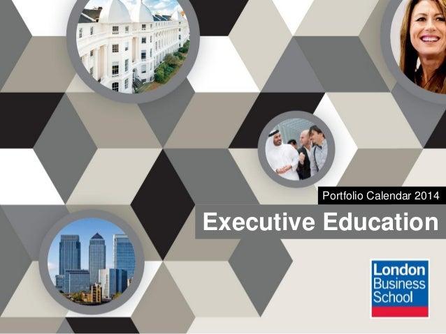Executive Education Portfolio Calendar 2014