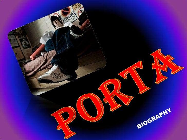 "Christian Jiménez Bundó (betterknown by his stage name "" Porta"" )was born on July 2, 1988; in Sarrià,Barcelona, España.  C..."