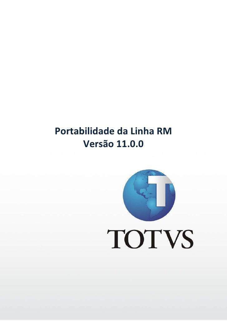 Portabilidade CorporeRM - 11.00