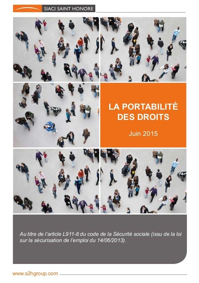 Au titre de l'article L911-8 du code de la Sécurité sociale (issu de la loi sur la sécurisation de l'emploi du 14/06/2013)...
