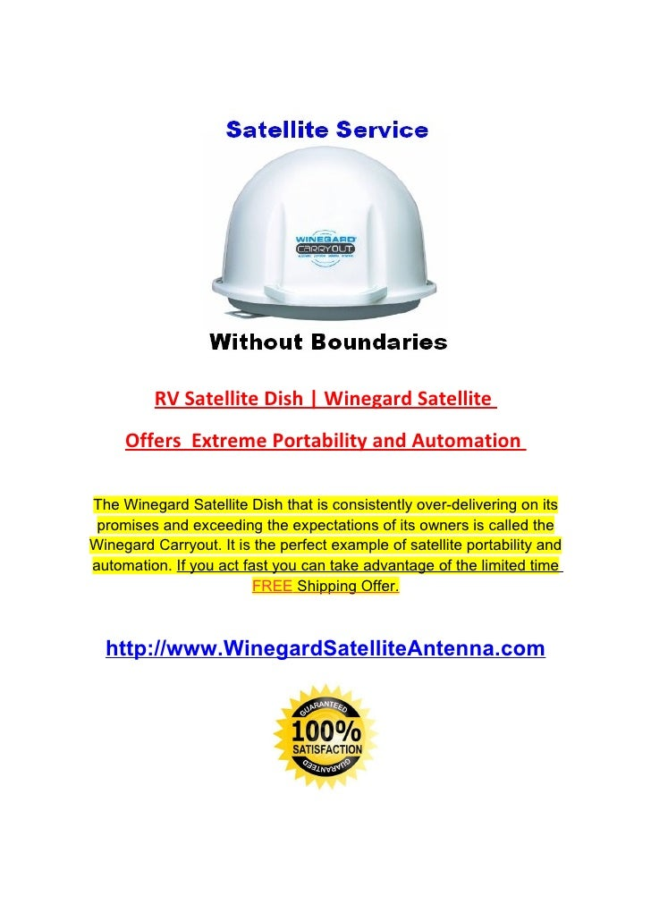 RV Satellite Dish   Winegard Satellite      Offers Extreme Portability and Automation  The Winegard Satellite Dish that is...