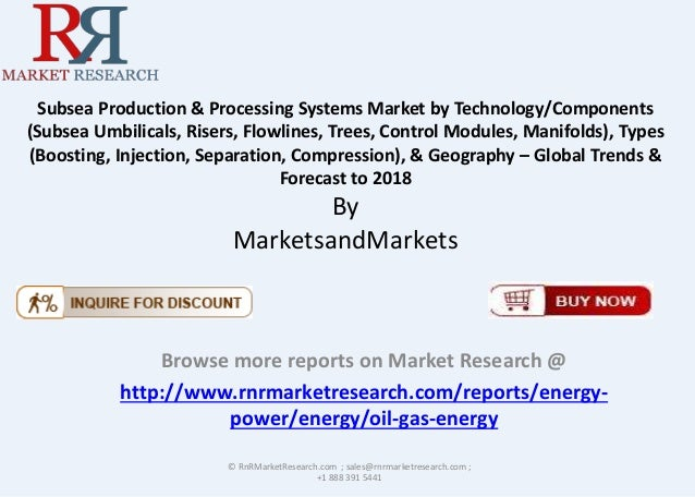 subsea production processing systems market Page 63 wwwvisiongaincom the subsea production & processing systems market 2012-2022 36 subsea inspection & monitoring submarket forecast 2012-2022.
