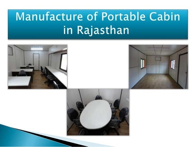 Portable cabin in rajasthan