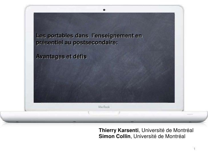 Portables - Thierry Karsenti - 2010