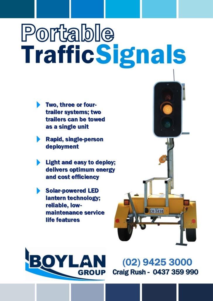 Portable traffic signals brochure