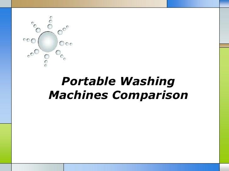 Portable WashingMachines Comparison