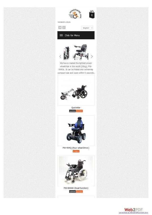 Portable wheelchair sale