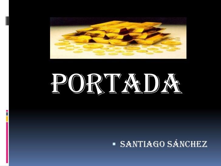 PORTADA    SANTIAGO SÁNCHEZ