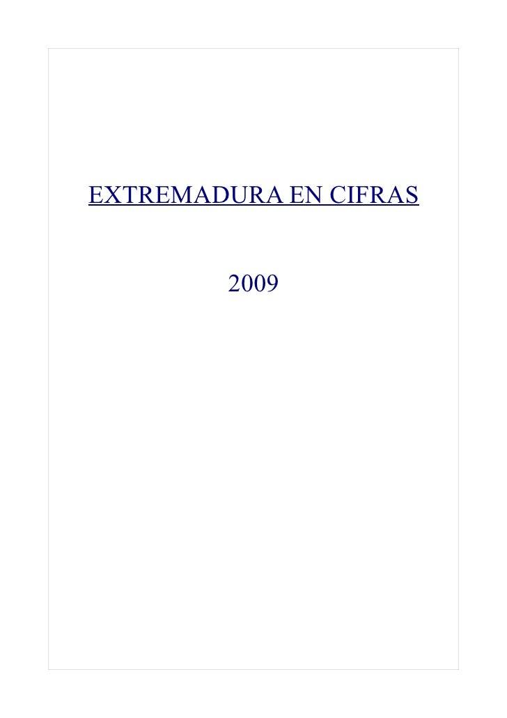EXTREMADURA EN CIFRAS           2009