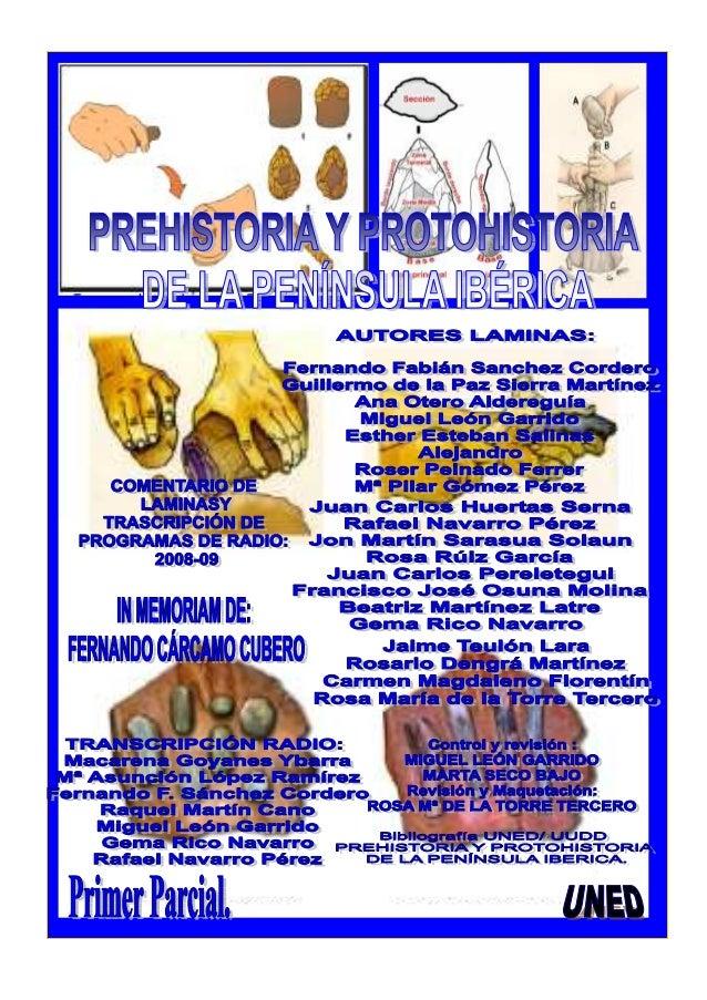 Portada laminas Prehistoria y Protohistoria de la PI_2008-09 Licenciatura Historia