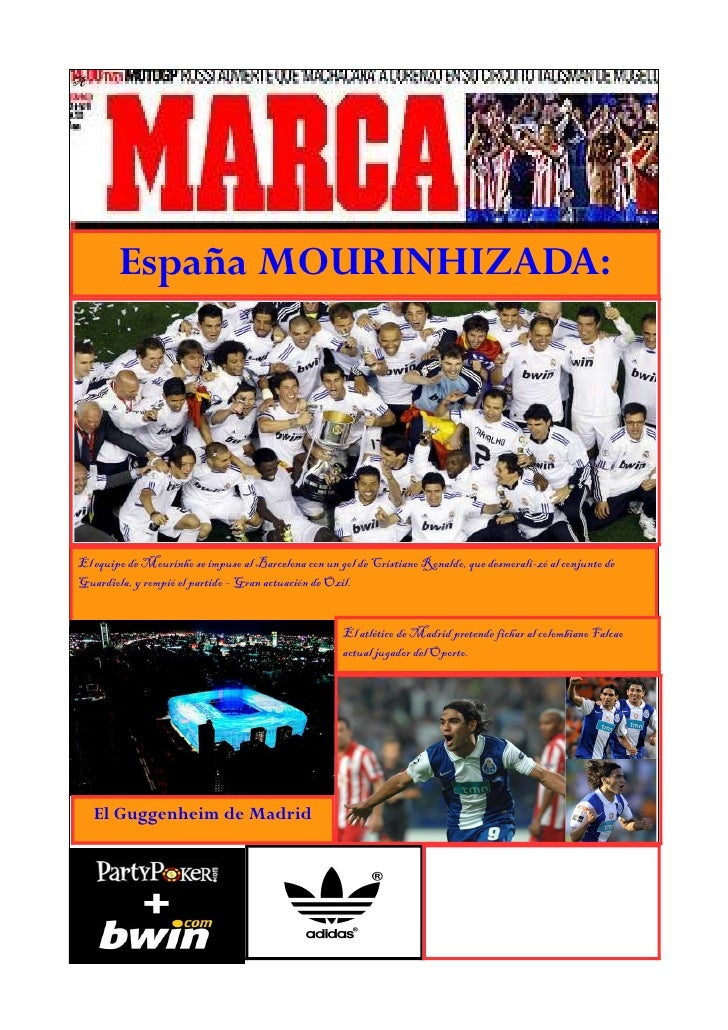 A        España MOURINHIZADA:El equipo de Mourinho se impuso al Barcelona con un gol de Cristiano Ronaldo, que desmorali-z...