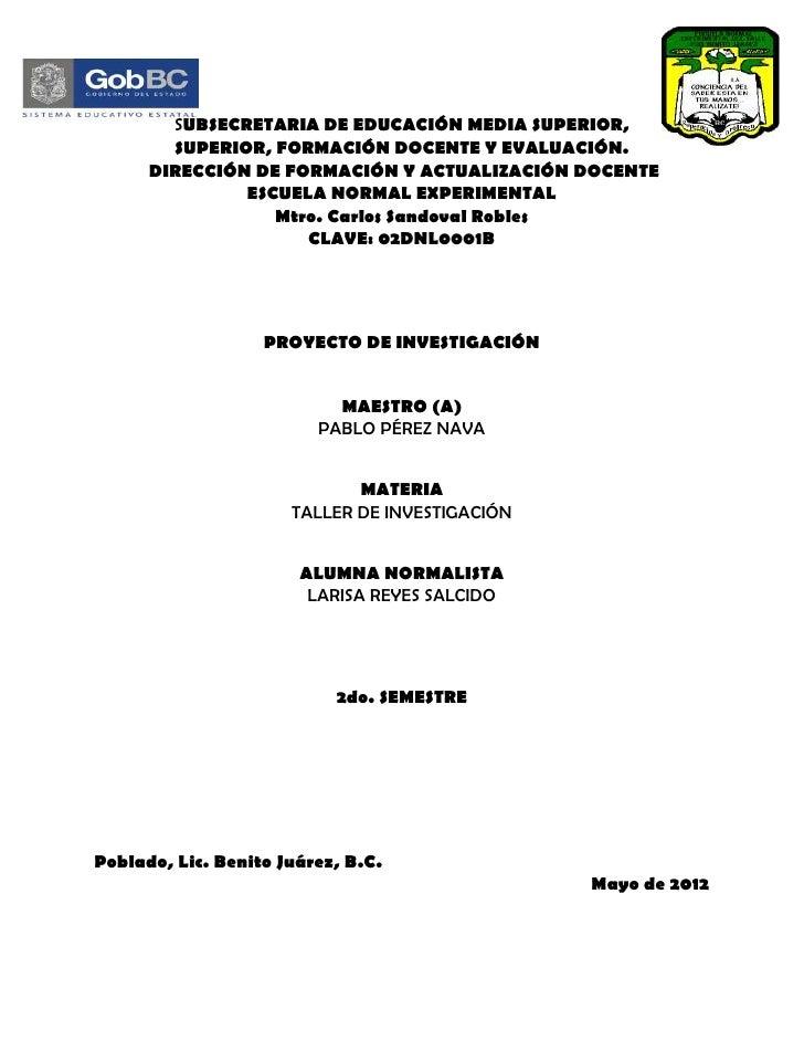 Modelo de caratulas para proyectos de investigacion - Imagui