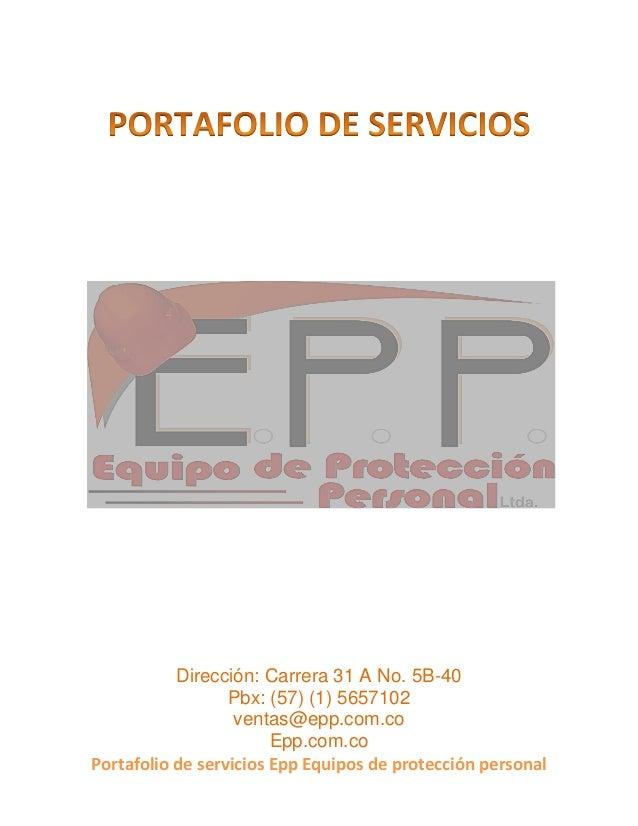 Portafolio de-servicios-epp