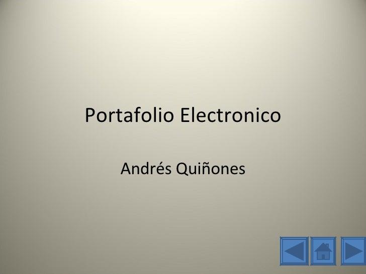 Portafolio Electronico Andrés Quiñones