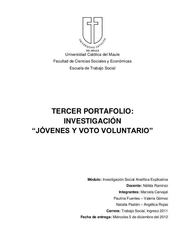 Universidad Católica del Maule    Facultad de Ciencias Sociales y Económicas            Escuela de Trabajo Social    TERCE...