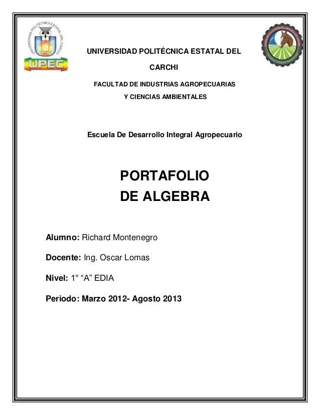 UNIVERSIDAD POLITÉCNICA ESTATAL DEL CARCHI FACULTAD DE INDUSTRIAS AGROPECUARIAS Y CIENCIAS AMBIENTALES Escuela De Desarrol...
