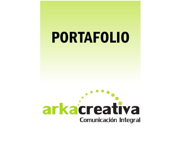 PORTAFOLIO   Comunicación Integral