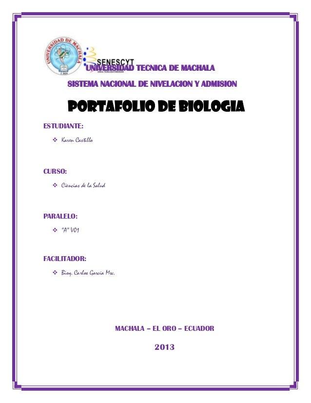 Portafolio biologia