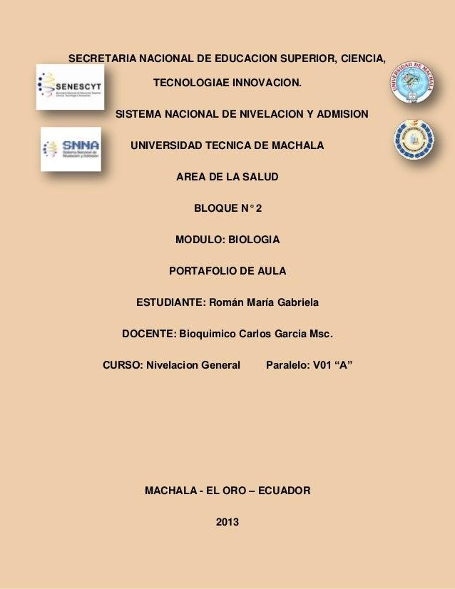SECRETARIA NACIONAL DE EDUCACION SUPERIOR, CIENCIA, TECNOLOGIAE INNOVACION. SISTEMA NACIONAL DE NIVELACION Y ADMISION UNIV...
