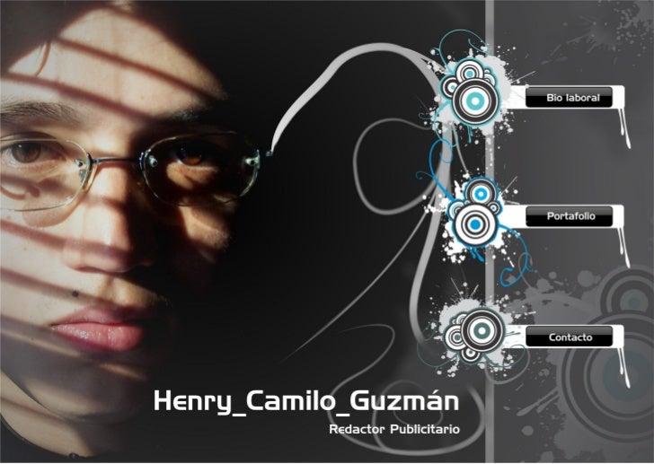 Portafolio Camilo Guzmán Redactor Publicitario