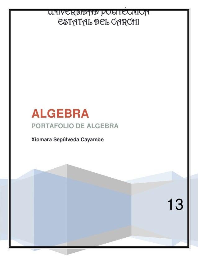 Portafolio de algebra........
