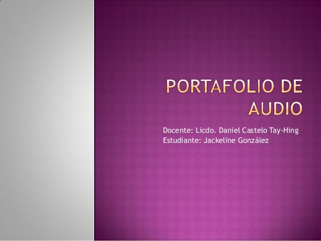 Portafolio de audio