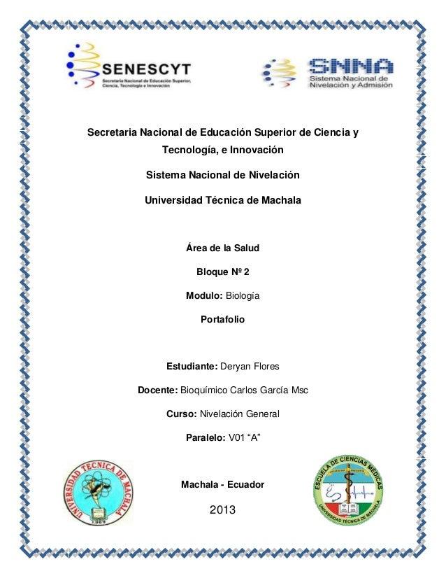 Secretaria Nacional de Educación Superior de Ciencia y Tecnología, e Innovación Sistema Nacional de Nivelación Universidad...