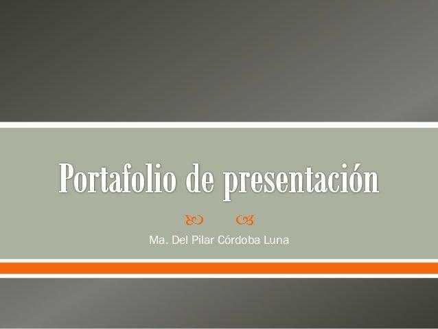 Portafolio de presentación - semana 4