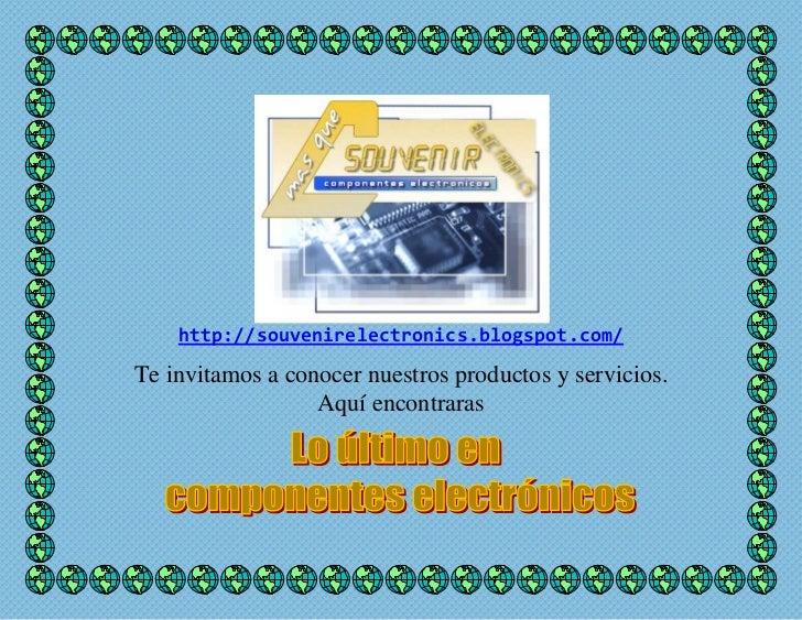 Portafolio de servicios - SOUVENIR ELECTRONICS