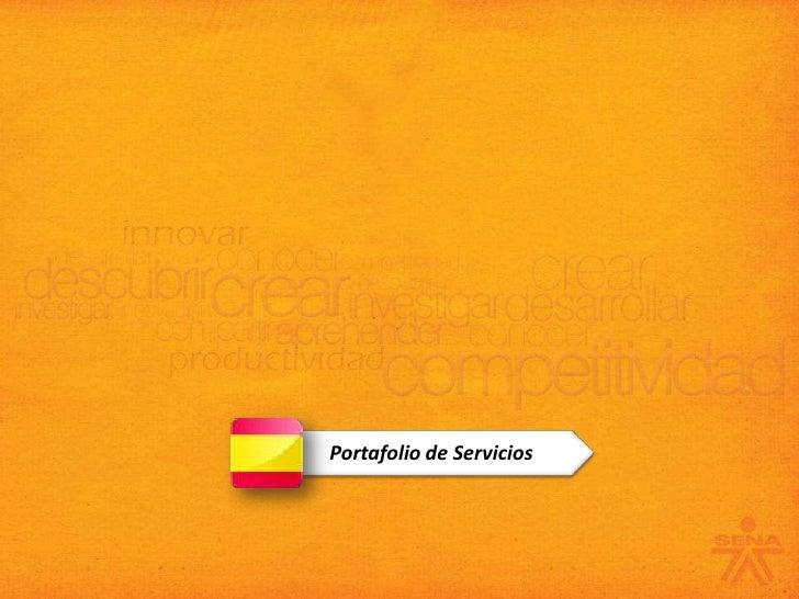 Portafolio De Servicios 2010 EspañOl