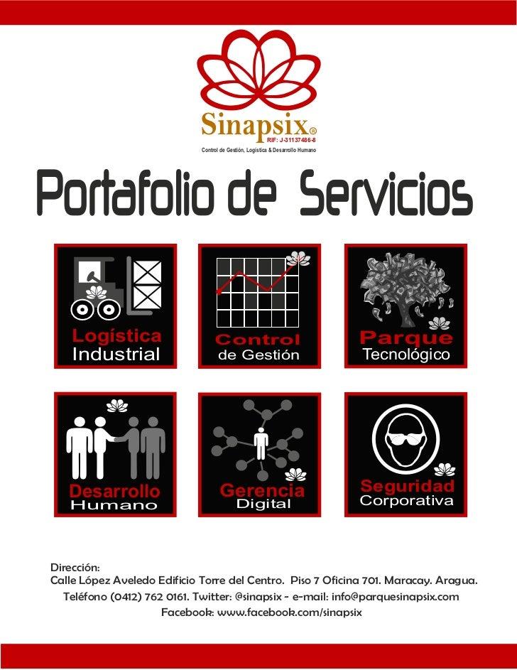 Portafolio de servicios sinapsix