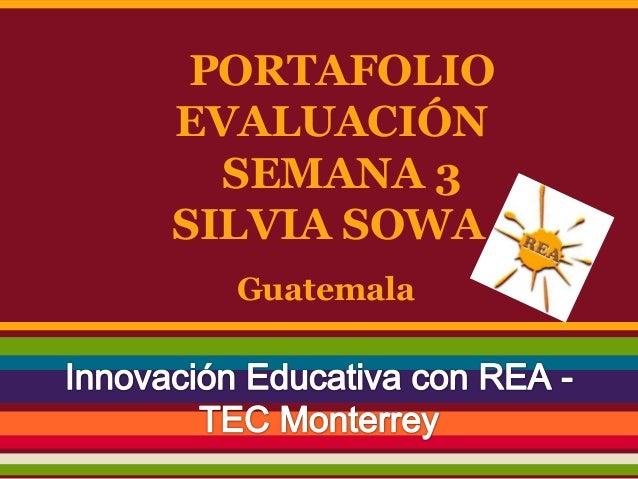 Portafolio evaluación 3 silvia sowa