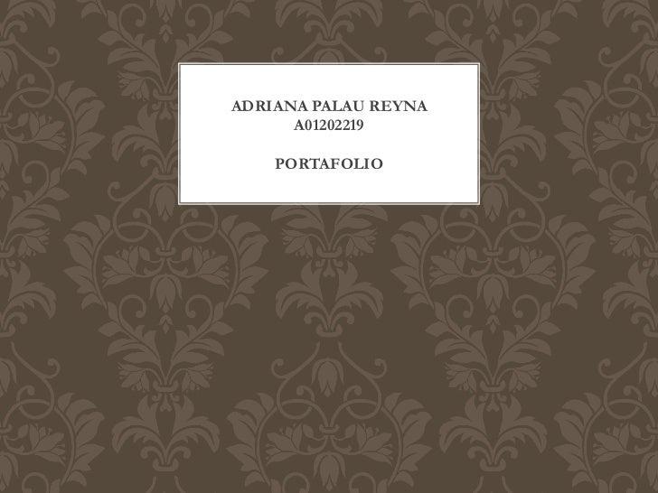 ADRIANA PALAU REYNA      A01202219    PORTAFOLIO