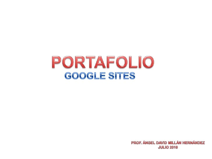 Portafolio google sites