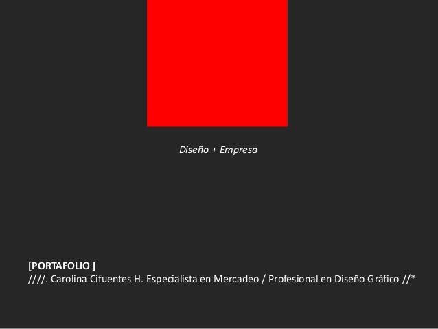 [COTIZACION MARCA] ////. Carolina Cifuentes H. Especialista en Mercadeo / Profesional en Diseño Gráfico //* MANUAL DE IMAG...