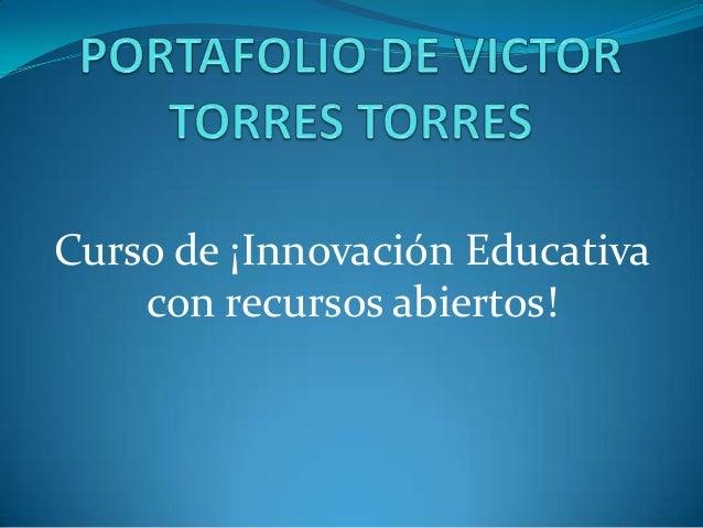 Curso de ¡Innovación Educativa con recursos abiertos!