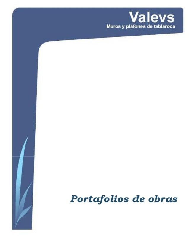 Portafolios de-tablaroca