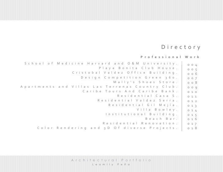 architectural works portfolio