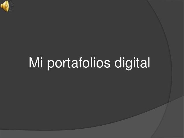 Mi portafolios digital